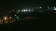Busy airport at night 30 Stock Footage