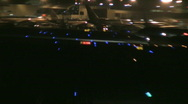 Busy airport at night 2 Stock Footage