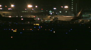 Busy airport at night 35 Stock Footage