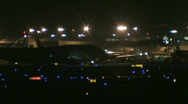 Stock Video Footage of busy airport at night 32