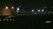 Busy airport at night 11 Stock Footage