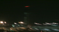 Busy airport at night 6 Stock Footage