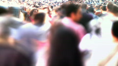 Anonymous crowd timelapse Stock Footage