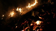 Large Bonfire Stock Footage