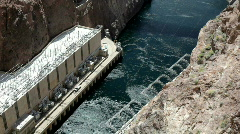 Water at the bottom of Hoover Dam Stock Footage