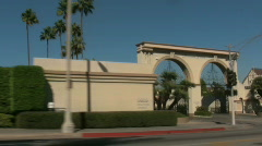 Movie Studios in Los Angeles, California Stock Footage