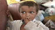 Stock Video Footage of Cute Refugee Boy in Swat, Pakistan