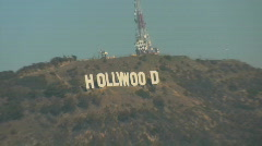 Hollywood Sign, Los Angeles, California Stock Footage