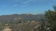 Hollywood Sign in Los Angeles, California Stock Footage