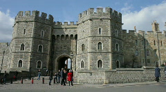 King Henry VIII Gate at Windsor Castle Berkshire England Britain UK Europe Stock Footage