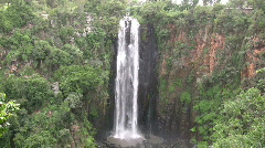 Zoom out of thompson falls, Kenya Stock Footage