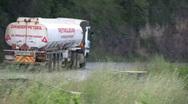 Petrol tanker trnsporting fuel in Kenya Stock Footage