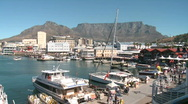 Cape Town Waterfront Stock Footage
