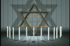 0410 Thirteen Candles Star of David Bar Mitzvah Party  Stock Footage