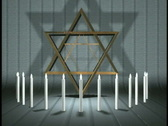 0410 Thirteen Candles Star of David Bar Mitzvah Party  Stock Footage