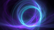 Stock Video Footage of blue ring on purple motion background d2379