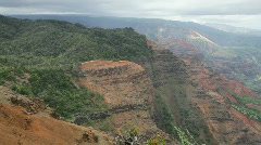 Canyon Trail and Waimea Canyon, Kauai, Hawaii Stock Footage