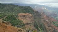Canyon Trail and Waimea Canyon, Kauai, Hawaii Stock Footage