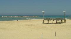 Tal Aviv beach 1 Stock Footage