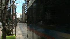 (1169) City Speeding Buses Urban Mass Transit Metro Lifestyles Stock Footage