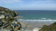 Trevaunance Cove near St. Agnes. Stock Footage
