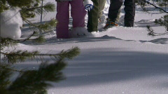 Winter Snowshoe Family Active Girl 12 59.94 Stock Footage