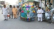 Stock Video Footage of Elaborately Decorated Rickshaw