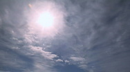 Sun & clouds Stock Footage