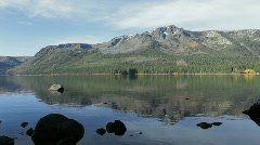 Fallen Leaf Lake (pan), South Lake Tahoe, California Stock Footage