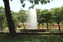Fountain and Colonial Era black powder depot Stock Footage