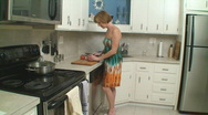 Stock Video Footage of Woman in kitchen