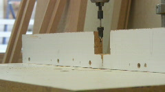 Cabinetry shop - 8 - drilling countersink holes Stock Footage
