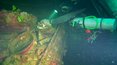 Wreck Diving, Truk Lagoon Stock Footage