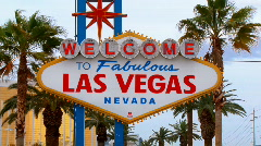 Las Vegas Welcome Sign Stock Footage