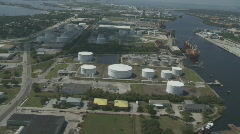Aerial Tampa Ship Yard Stock Footage