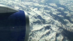 Flying over the Austrian Alps Stock Footage