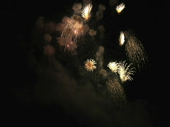 Fourth of July Fireworks at the Rose Bowl, Pasadena, California - stock footage