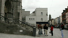 Drogheda Timelapse of an Irish Town 14 church steps Stock Footage