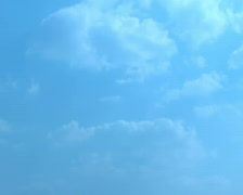 Blue sky with clouds - stock footage