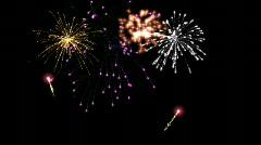 Fireworks seamless loop Stock Footage