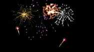 Stock Video Footage of Fireworks seamless loop