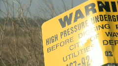 Utility Warning Sign Stock Footage