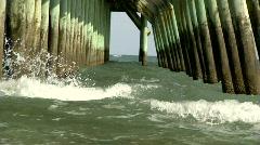 Under Pier Stock Footage