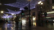 Stock Video Footage of Time Lapse of Rain in Central London