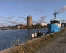 canal boat sweden - stock footage