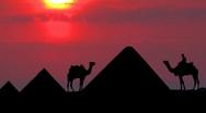 Egypt sunset Stock Footage