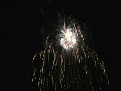 Stock Video Footage of Fourth of July Fireworks at the Rose Bowl, Pasadena, California