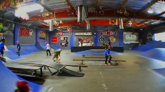 indoor skatepark timelapse1 - stock footage