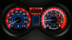 car dashboard animation, with sound - stock footage