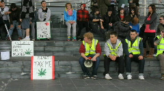 Marijuana March 12 Stock Footage